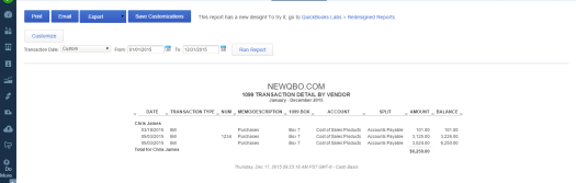 1099 transaction