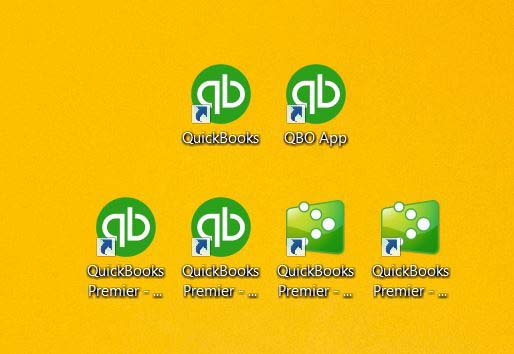 My QuickBooks icons on my desktop