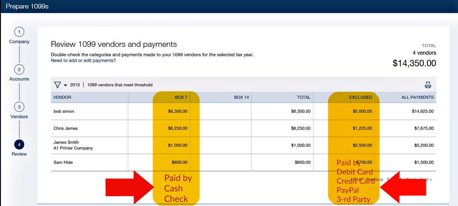 What to exclude transactions on 1099 misc forms when you pay an in quickbooks here is a reference list of codes to use when you record payment transactions to exclude falaconquin