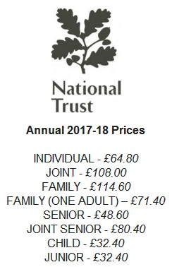 National Trust Prices 2017-2018