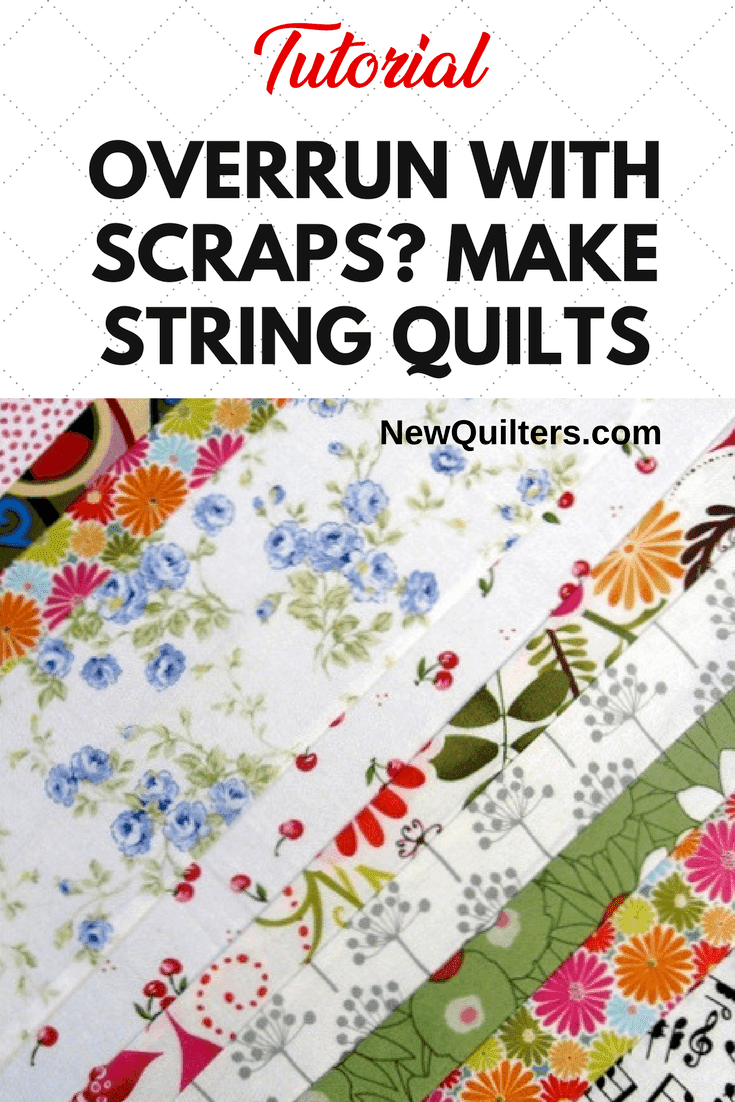 Photo of string quilt block