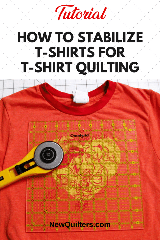 PHoto of t-shirt with cutting ruler and rotary cutter