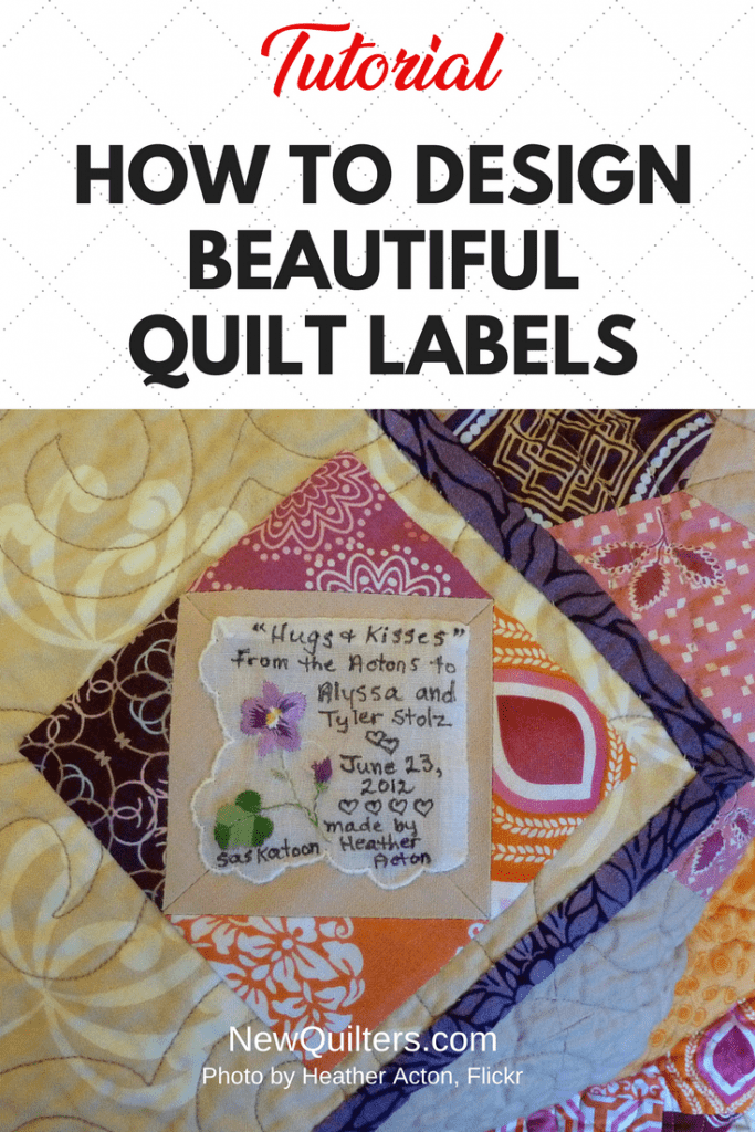 Photo of quilt label