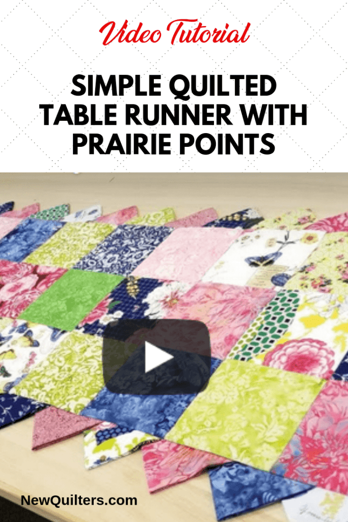 Simple Table Runner with Prairie Points Video Tutorial