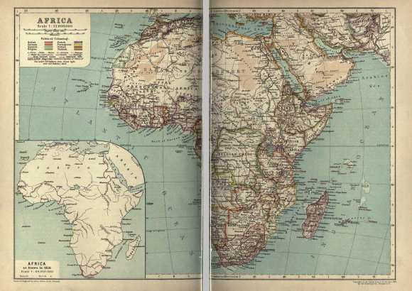 map of Africa from the 1911 Encyclpaedia Britannica
