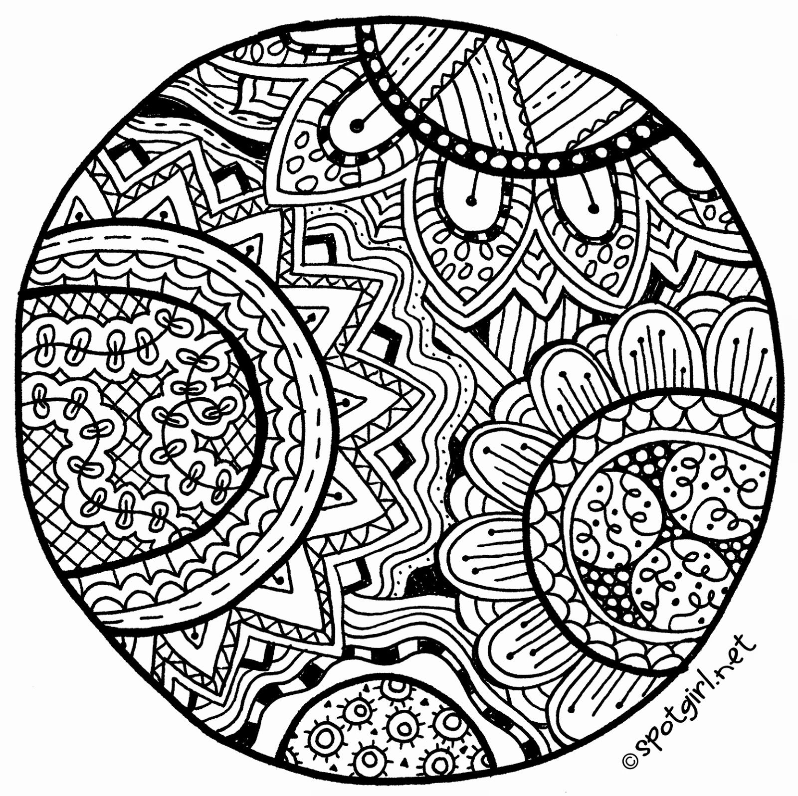Free Printable Zentangle Patterns Instructions