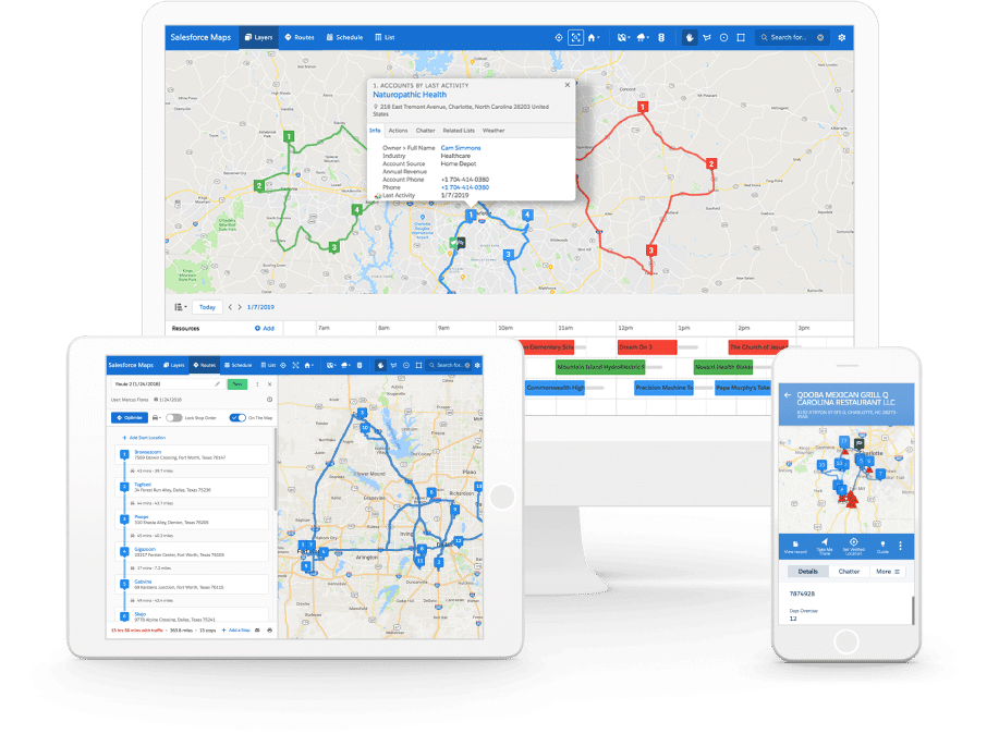 Salesforce Maps: Location Intelligence solutions