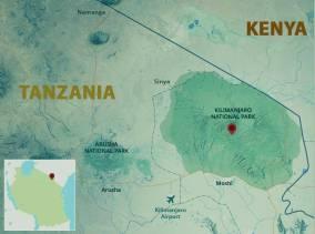 Kilimanjaro Africa Map