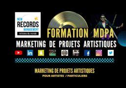 Image illustrée et créée pour la formation marketing de projets artistiques au format allégé et accessible aux artistes et aux particuliers (présentiel/distanciel)..