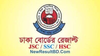 Dhaka Board JSC SSC HSC Result