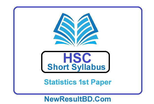 HSC Statistics 1st Paper New Short Syllabus 2021 (এইচএসসি পরিসংখ্যান ১ম পত্র সিলেবাস)