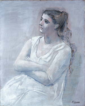 """Woman in white""- Pablo Picasso"
