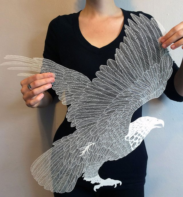 cool-art-cut-paper-bald-eagle