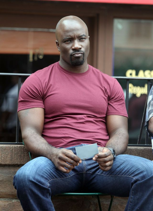 "NEW YORK, NY - SEPTEMBER 22: Mike Colter stars as the title character in Marvel / Netflix's ""Luke Cage:Hero For Hire"" on September 22, 2015 in New York City. (Photo by Steve Sands/GC Images)"