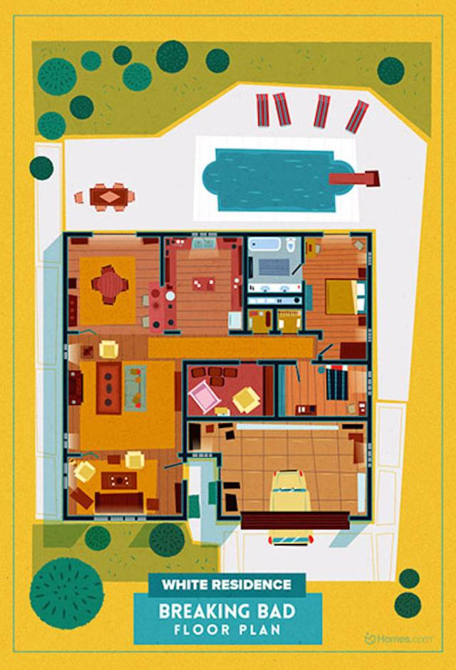 Home-Floor-Plans-of-Famous-TV-Shows-2-900x1323