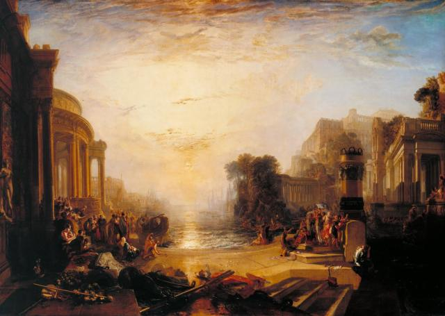 The Decline of the Carthaginian Empire ... exhibited 1817 Joseph Mallord William Turner 1775-1851 Accepted by the nation as part of the Turner Bequest 1856 http://www.tate.org.uk/art/work/N00499