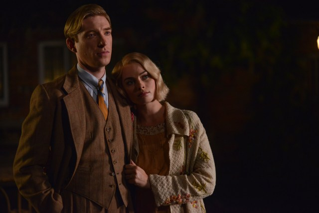 Domhnall Gleeson as 'Alan Milne' and Margot Robbie as 'Daphne Milne' in the film UNTITLED A.A. MILNE. Photo by David Appleby. © 2017 Fox Searchlight Pictures