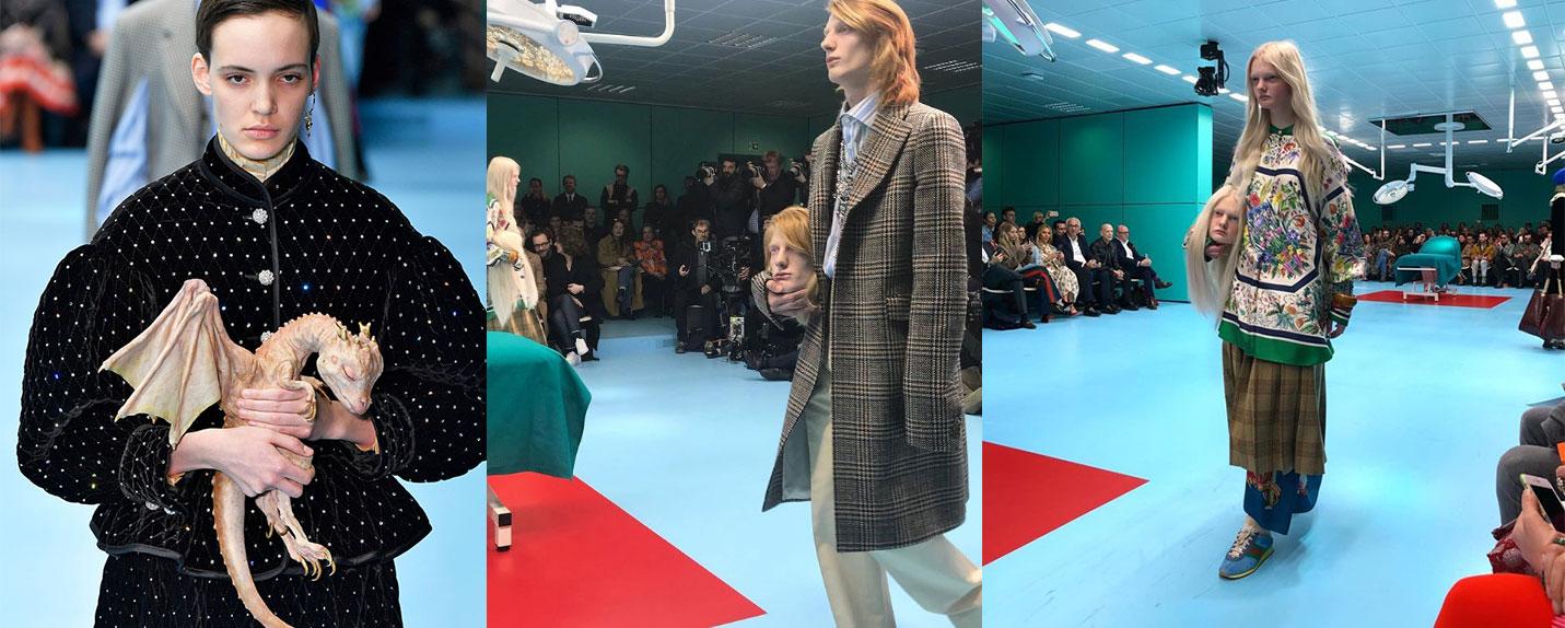 Gucci e seu impactante desfile na Semana da Moda de Milão