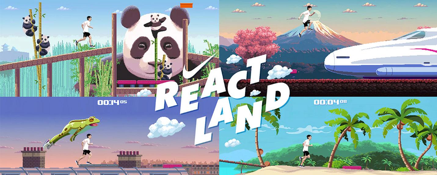 React Land: a experiência arcade da Nike