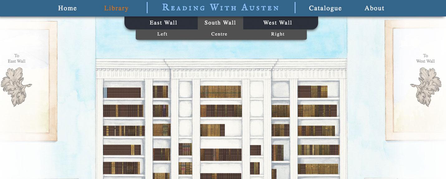 A biblioteca virtual de Jane Austen