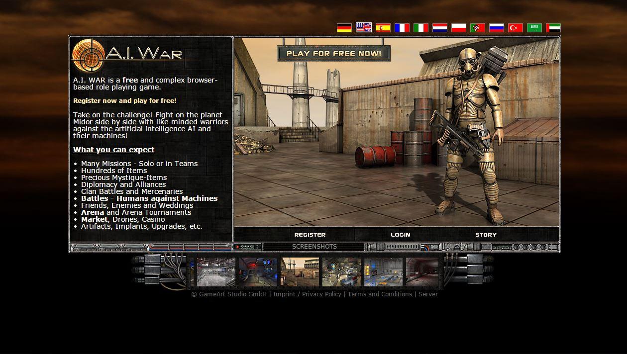 A I War Futuristic Browser Game