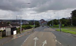 The Camlough Road was the scene of a security alert and a riot