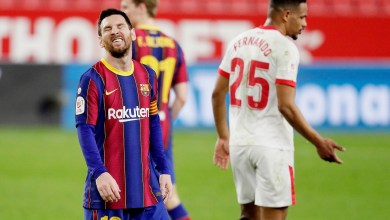 Photo of لاعب اشبيلية يسخر من لاعب برشلونة بعد هزيمة الكأس