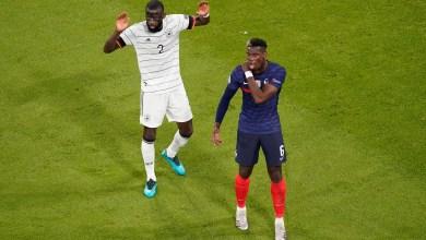 "Photo of بوجبا يُعلق على ""عض"" روديجر له في مباراة فرنسا وألمانيا"