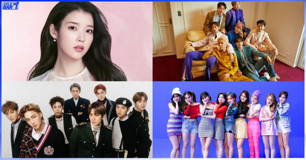 Billboard ရဲ့ K-pop Hot 100 Chart မှာ နံပါတ် ၁ နေရာကို အကြိမ်ရေအများဆုံး ရရှိခဲ့တဲ့ K-Pop Idol များ
