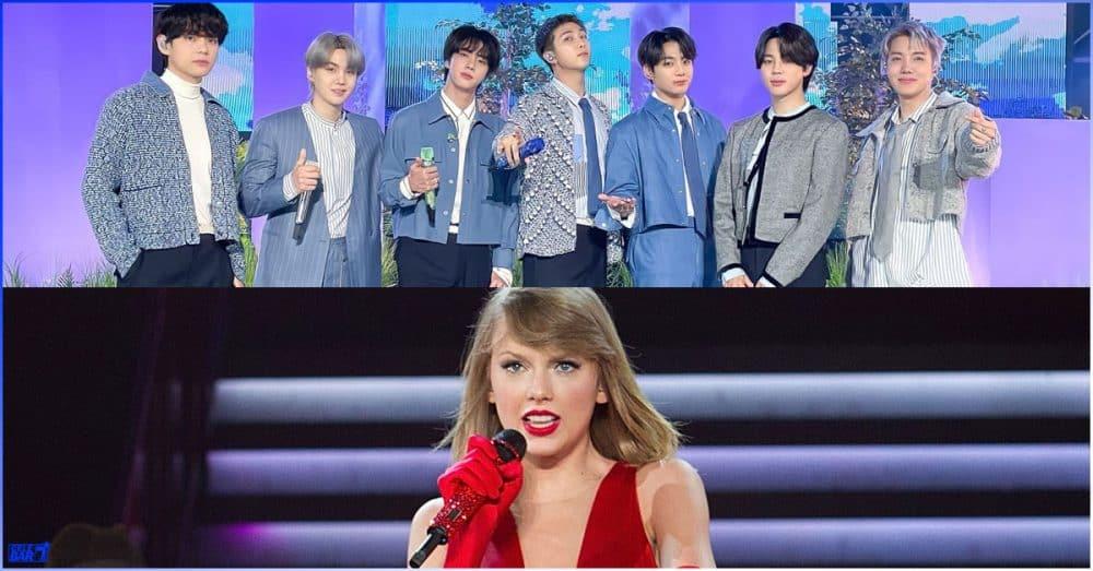 Taylor Swift ကို ကျော်တက်ပြီး Billboard သမိုင်းတစ်လျှေုာက် အမြင့်ဆုံး စံချိန်သစ်တင်လိုက်တဲ့ BTS