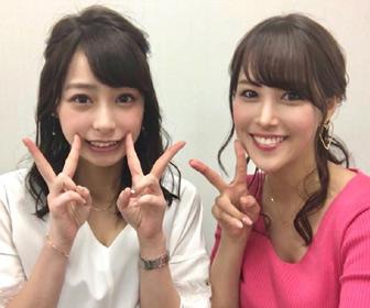 【画像あり】鷲見玲奈アナ  宇垣美里アナと仲良し2ショット「姉妹みたい」「頼りになる美女2人」