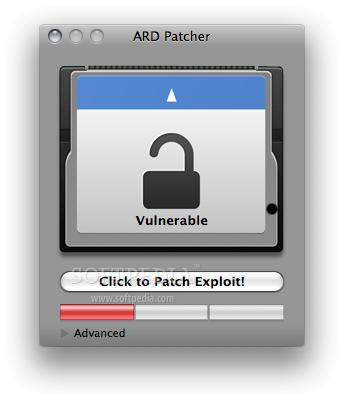 ARD Patcher Fixes Apple Remote Desktop Exploit Step 1   the software acknowledges the threat