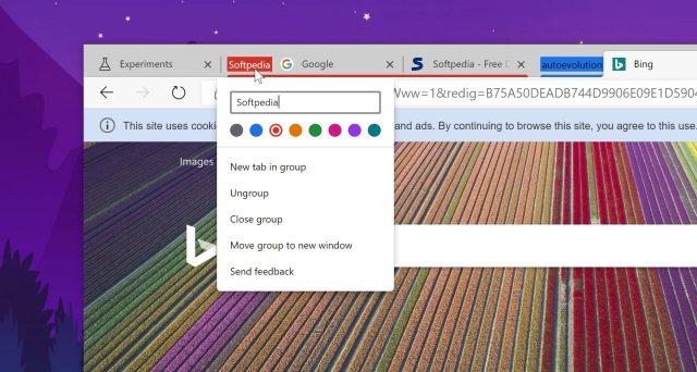Tab groups in Microsoft Edge