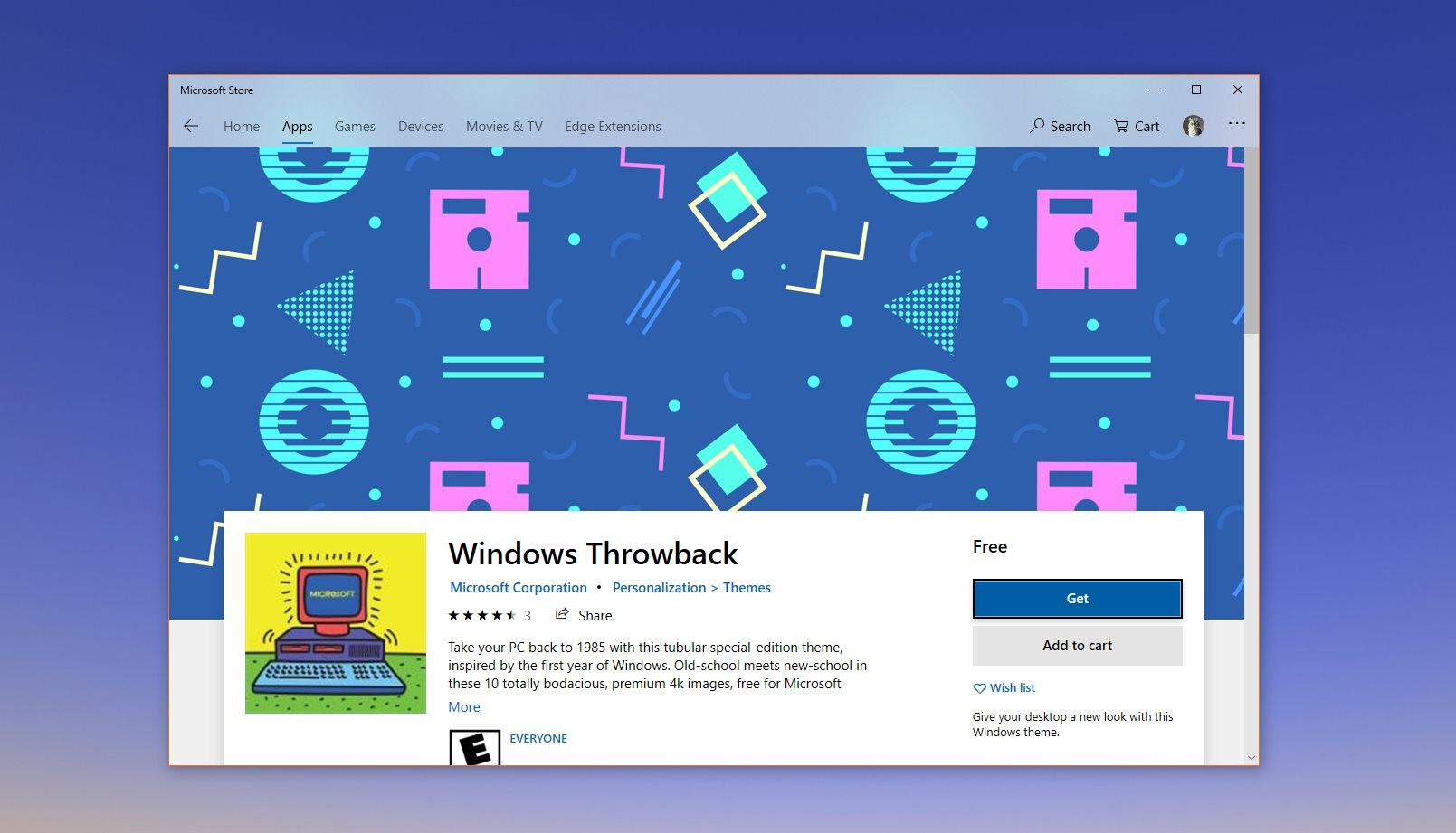 Microsoft Releases Windows Throwback Theme For Windows 10