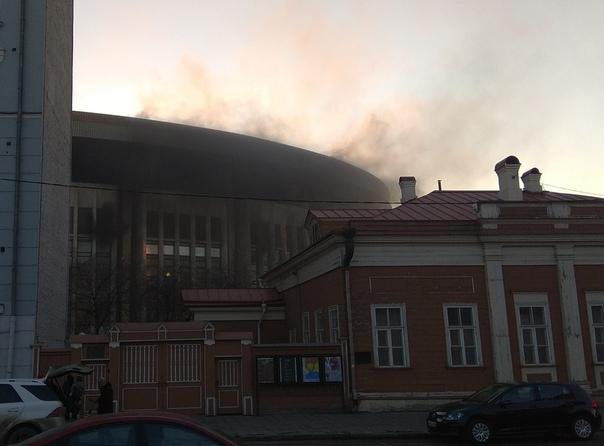 Вспорткомплексе «Олимпийский» произошел пожар
