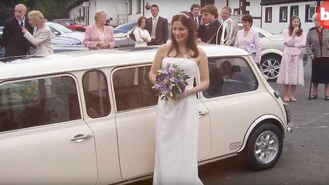 Мистеру Бину на зависть: старый Mini превратили в свадебный лимузин