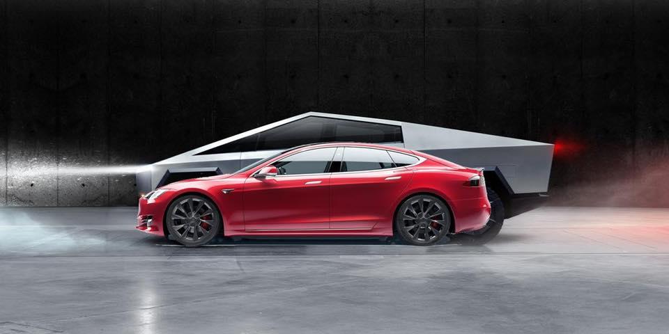 Пикап Tesla Cybertruck оригинально сравнили с собратьями