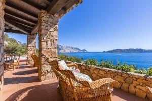 Terrace with privacy at Capo Coda Cavallo