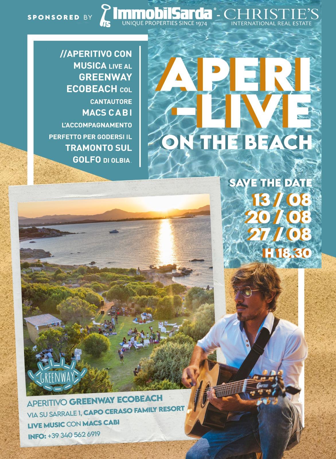 Aperi-Live sulle spiagge di Capo Ceraso Family Resort
