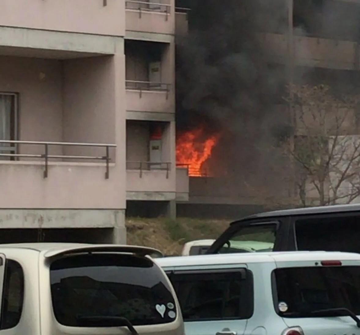 福島県いわき市中央台鹿島三丁目タウンヒル鹿島で火災