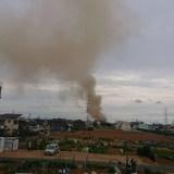 静岡県浜松市東区有玉台付近で火災 fire scene