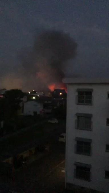 大分県宇佐市大字四日市の慈光保育園付近で火災