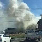 福島県西白河郡西郷村屋敷裏西付近で火災