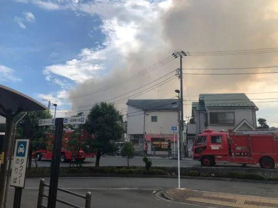 神奈川県相模原市中央区上溝駅付近で火災