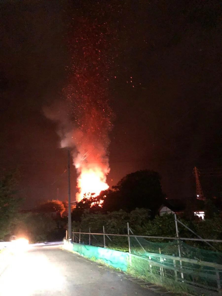 fire scene 福島県郡山市富久山町八山田熊野台の住宅