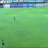 顔画像 サッカー日本代表とミャンマー代表の試合で上半身裸男が乱入