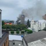 希望館病院付近(群馬県高崎市江木町)で火災