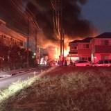 神奈川県藤沢市西俣野付近で火事