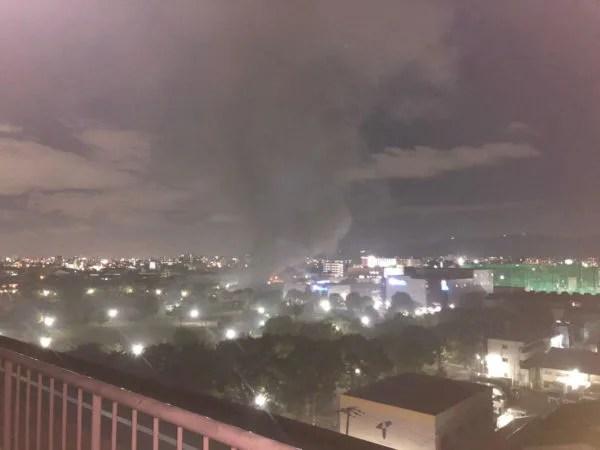 東大阪市渋川町2丁目付近で火災