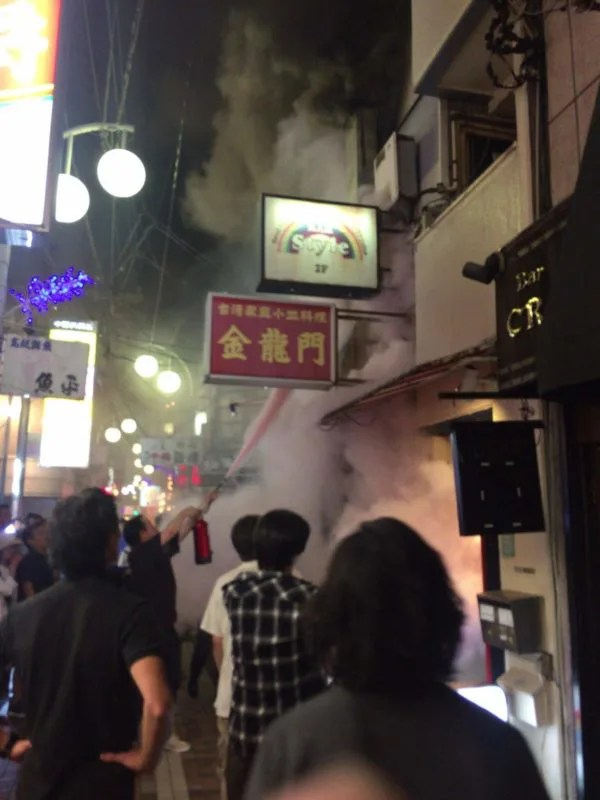 東京中野 台湾料理 金龍門で火災